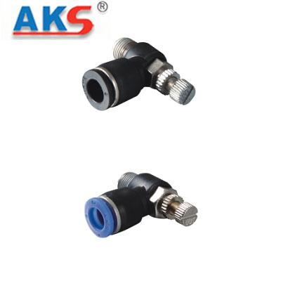 Cút nối tiết lưu khí nén có ren AKS ASL