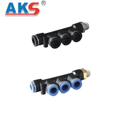 Cút nối nhanh chia bốn có ren AKS APKD