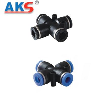 Cút nối ống khí nén chữ thập AKS APZA