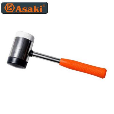 Búa 2 đầu cao su trắng đen Asaki AK-9533
