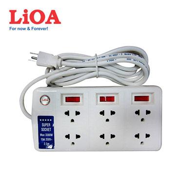 Ổ cắm kéo dài LiOA 6SS2.5-3 dây 2.5m
