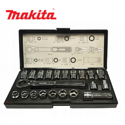 Bộ tuýp 21 chi tiết Makita B-65604