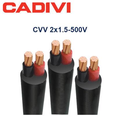 Dây Điện Đôi Cadivi CVV-2x1.5 - 0,6/1 KV