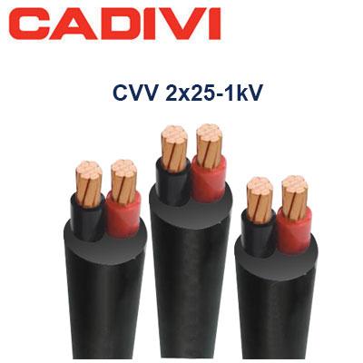 Dây Điện Đôi Cadivi CVV-2x25 - 0,6/1 KV