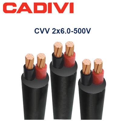 Dây Điện Đôi Cadivi CVV-2x6.0 - 0,6/1 KV