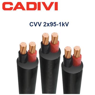Dây Điện Đôi Cadivi CVV-2x95 - 0,6/1 KV