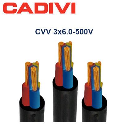 Dây Cáp Điện Cadivi CVV-3x6.0 - 0,6/1 KV