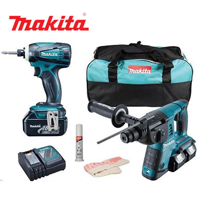 Bộ máy khoan vặn vít Makita DLX2071PM1