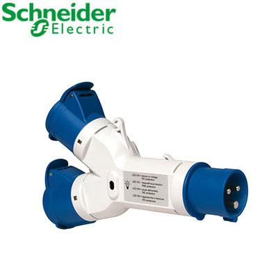 Ổ cắm nối 2 ngã Schneider 2P PKZM403