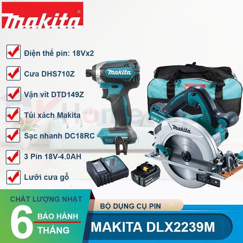 Bộ máy cưa máy vặn vít Makita DLX2239M
