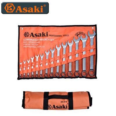 Bộ cờ lê vòng miệng Asaki AK-7502