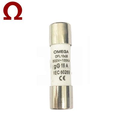 Cầu chì ống Omega 10x38mm 16A