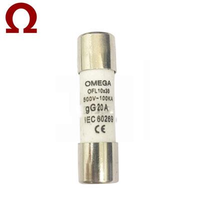 Cầu chì ống Omega 10x38mm 20A