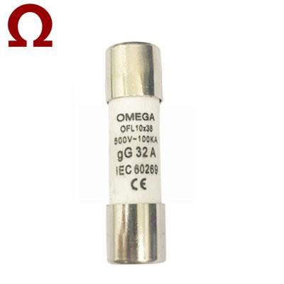 Cầu chì ống Omega 10x38mm 25A