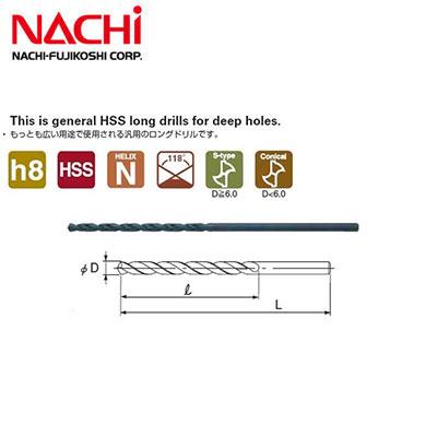 Mũi khoan dài Nachi D8x200mm List 550