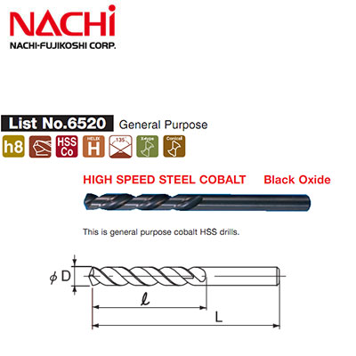 Mũi khoan Inox Nachi D12 List 6520