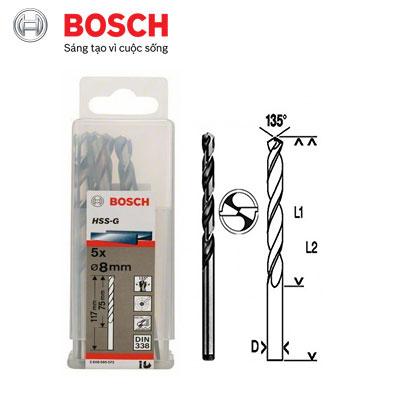 Mũi Khoan Kim Loại D8 Bosch 2608595072